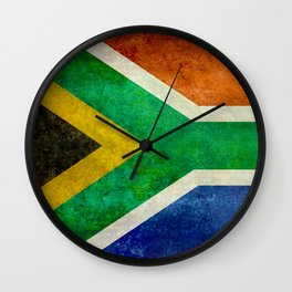 National flag of the Republic of South Africa - Banner version Wall Clock
