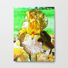 Pop Art Iris Metal Print