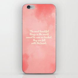 The most beautiful things... The Little Prince quote iPhone Skin