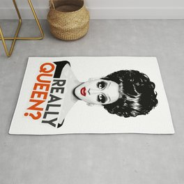 """Really, Queen?"" Bianca Del Rio, RuPaul's Drag Race Queen Rug"