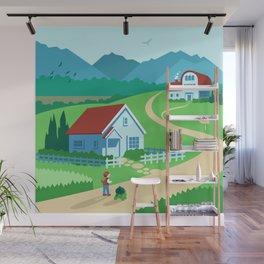 Pallet Wall Mural