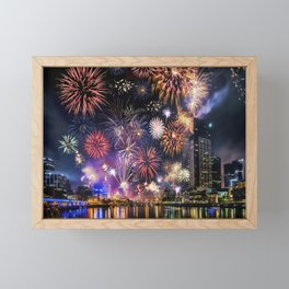 Fabulous Fireworks Framed Mini Art Print