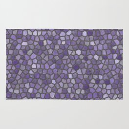 Faux Stone Mosaic in Purples Rug