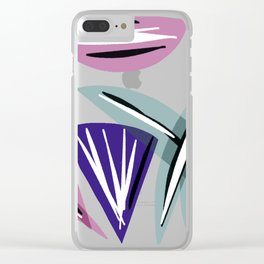 Wedges Block Party Clear iPhone Case