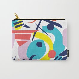 Bright Colorful Abstract Shapes Paper Cut Carry-All Pouch