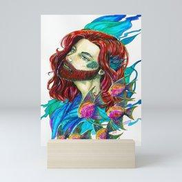The little Merman - Little Mermaid fanart Mini Art Print