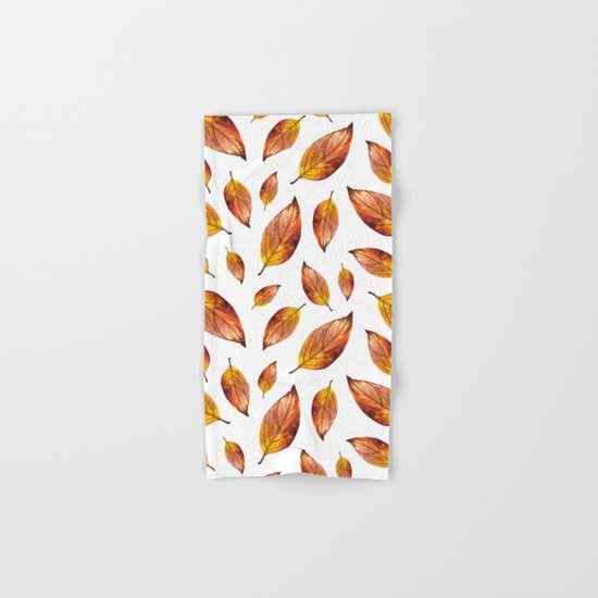 Autumn Leaves Pattern 03 Hand & Bath Towel