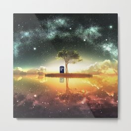 tardis doctor who Metal Print