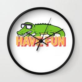 Have Fun Retro Person Gift Wall Clock