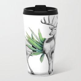 Whitetail Buck Metal Travel Mug