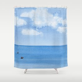 Two Seals Pop Up Shower Curtain