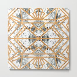 Marble Deco Shade One; Metal Print