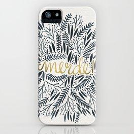 Pardon My French – Black & Gold iPhone Case