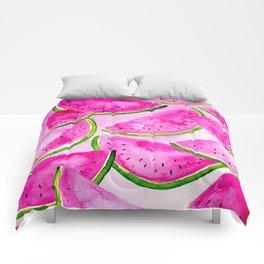 Pink Summer Watermelon Print Comforters