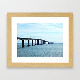 Under the Bridge and Beyond Framed Art Print