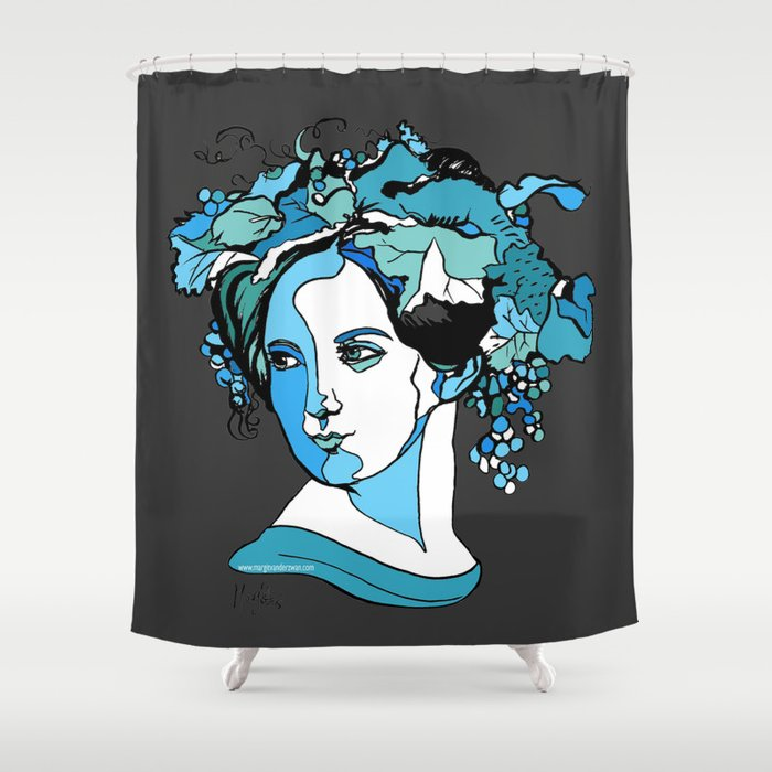 Fanny Mendelssohn Bartholdy Hensel German Pianist Female Woman Women Composer Music Musician Art Fem Shower Curtain