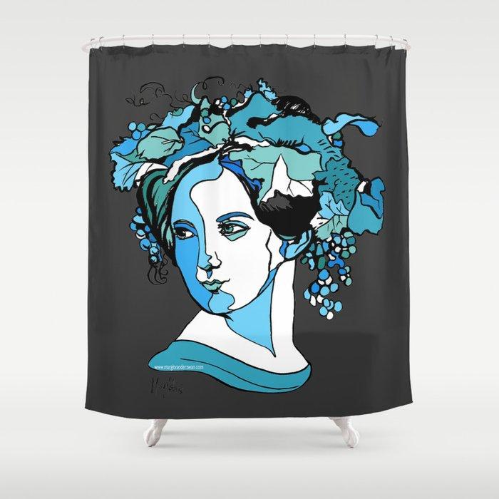 Fanny Mendelssohn Bartholdy Hensel German Pianist Female Woman Women Composer Music Musician Art Fem Shower Curtain