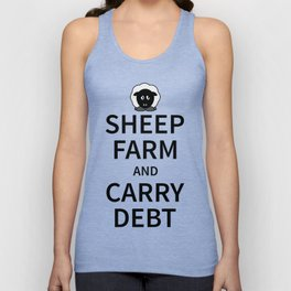 Sheep Keep Calm Unisex Tank Top