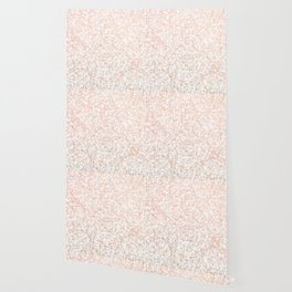 Rose Golden Pink Marble Lace Pattern Wallpaper