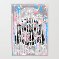buddah Canvas Prints featuring Buddah - Butterfly by Kristina Snowflake