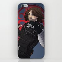 winter soldier iPhone & iPod Skins featuring Winter Soldier  by Inkforwords