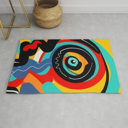 Wild Heart Street Art Graffiti Primitive Rug