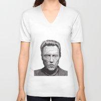 christopher walken V-neck T-shirts featuring Christopher by Rik Reimert