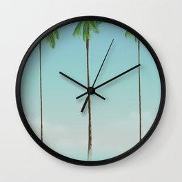 Florida Palms travel poster, Wall Clock