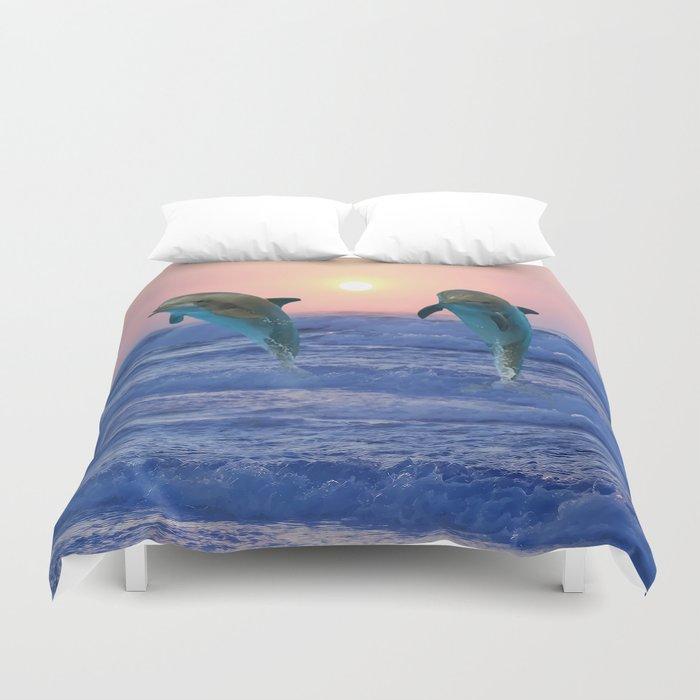 Dolphins at sunrise Bettbezug