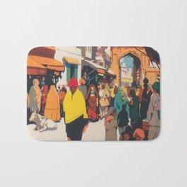 India Vintage Travel Poster Bath Mat