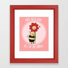 VALENTINE - Pretty Short Framed Art Print