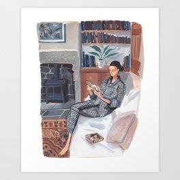 Quarantine Bookclub: Sara Art Print