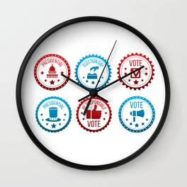 Be Responsible And Go Vote Wall Clock