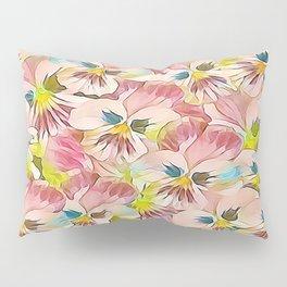 Abundance Of Pink Pansies Pillow Sham