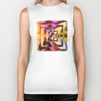 kandinsky Biker Tanks featuring Number 1 Abstract by Mark Compton by Mark Compton
