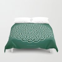 celtic Duvet Covers featuring Celtic knot by tuditees