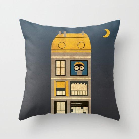 Night spy Throw Pillow