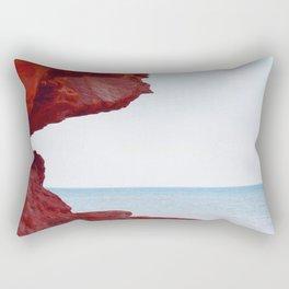 Red Rocks and Sapphire Seas Rectangular Pillow