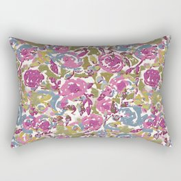 Painted Abstract Florals Rectangular Pillow