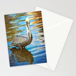 Brown Pelican along the Bayou Stationery Cards