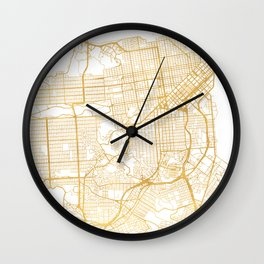 SAN FRANCISCO CALIFORNIA CITY STREET MAP ART Wall Clock