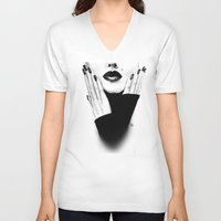 grace V-neck T-shirts featuring Grace by Lauren Draghetti