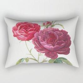 Purple French Rose Rectangular Pillow