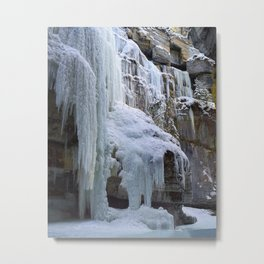 Building Ice in Maligne Canyon in Jasper National Park, Canada Metal Print