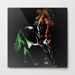 Irish Pride Horse Metal Print