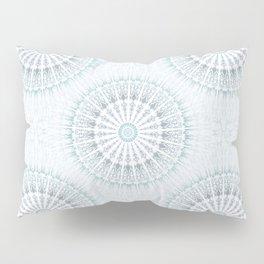 Teal Aqua Mandala Pillow Sham