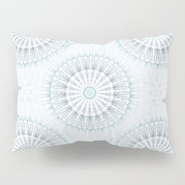 Teal Aqua Mandala Pillow Sham