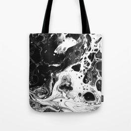 Monochrome Lava Flow Tote Bag