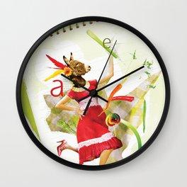 Eat Your Veggies Wall Clock