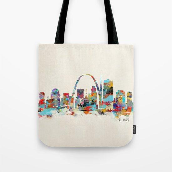 saint louis missouri skyline Tote Bag